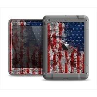 The Grungy American Flag Apple iPad Mini LifeProof Nuud Case Skin Set