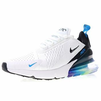"Nike air max 270 betrue ""White Black with blue green"" Running Shoes AH8050-022"