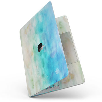 """Blushed Mint 32 Absorbed Watercolor Texture - 13"""" MacBook Pro without Touch Bar Skin Kit"""