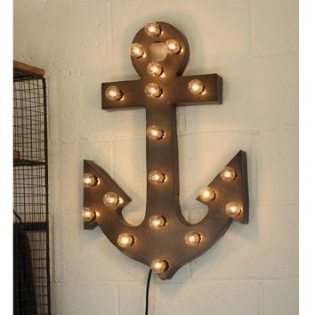 Anchor Marquee Sign with Lights