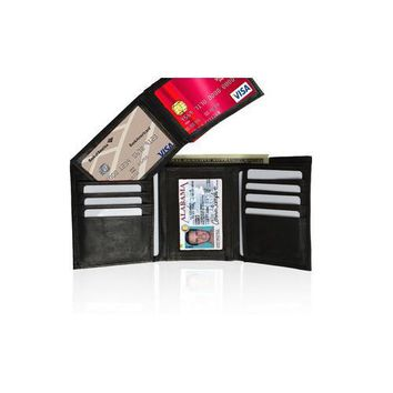 AFONiE Leather Tri-fold Wallet For Men with Handy Removable Compartment