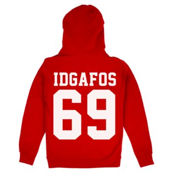 IDGAFOS 69 Hoodie (Red) | Dillon Francis Apparel | Online Store & Merchandise