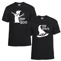 Boo and Witch Couples T-Shirts