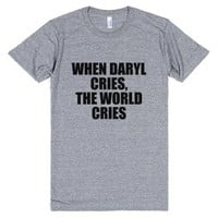 When Daryl Cries, The World Cries-Unisex Athletic Grey T-Shirt