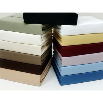 "16"" Super Deep Pocket -Cotton 600TC Pillow-Top Bed Sheet Sets"