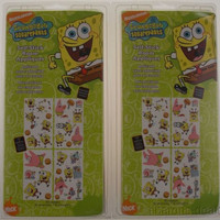 Set 2 Nickelodeon Spongebob Squarepants Self Stick Room Appliques Removable NEW