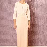 Custom made Bridesmaids dress - made to order maxi dress -  Modest  dress with sleeves