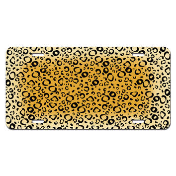 Leopard Spots Animal Print Novelty License Plate