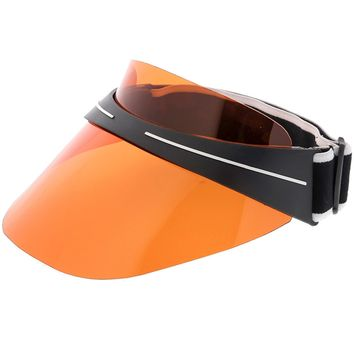 Oversize Shield Visor Hat Sunglasses Elastic Adjustable Strap 130mm