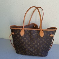 Louis Vuitton Monogram Canvas Neverfull MM Brown Tote Bag