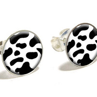 Cow Print Earrings