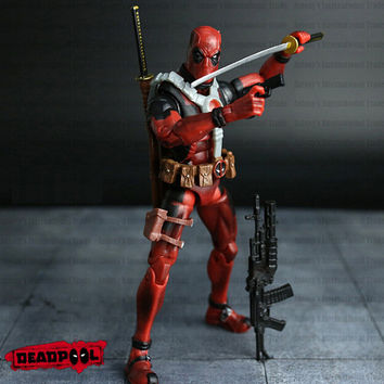 Marvel 16cm Super hero Justice league X-MAN Deadpool action figure toys Christmas toy NO BOX