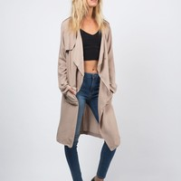 Drapey Trench Jacket