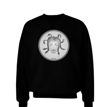 Medusa Head Coin - Greek Mythology Adult Dark Sweatshirt by TooLoud