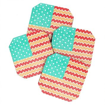 Nick Nelson Zig Zag Flag Coaster Set