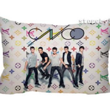 "NEW CNCO BOY BAND Zippered Pillow Case 16""x 24"" - 2 sides Cushion Cover"