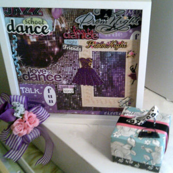 Gift Set for Prom School Dance - High School Romance - Young Love Dance Picture Frame Set