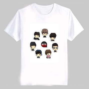 Bangtan Boys Cartoon T-Shirt