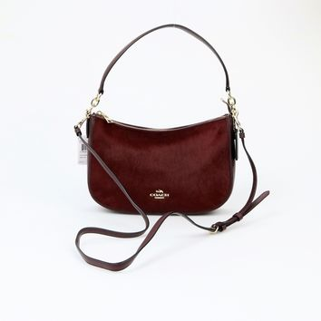 Coach Medium Leather Chelsea Calf Hair Crossbody