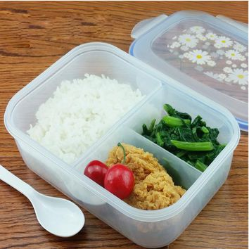 Single Strap Bento Layer Food Container Cutlery Box
