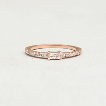 Baguette Eternity Ring - Rose Gold