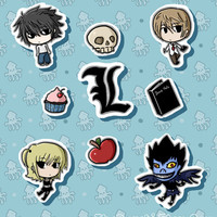 DEATH NOTE Inspired Sticker Pack