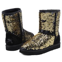 UGG Women Men Fashion Wool Snow Boots Half Boots Shoes