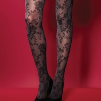 Charnos Opaque Flower Tights From The Tight Spot.com