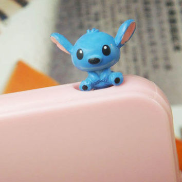 20% Off Cute 3D Stitch Interstellar Baby Dust Plug 3.5mm Phone Dust Stopper Earphone Cap Dustproof Plug Charms for iPhone 4 4S 5 HTC Samsung