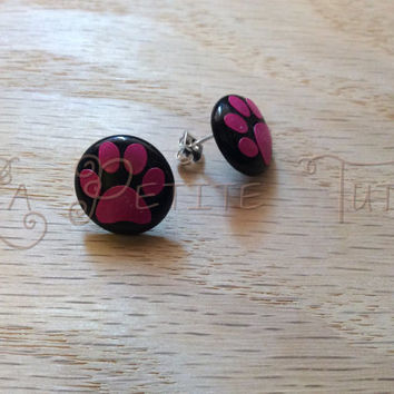 Paw print, earrings, girls earrings, womans earrings, jewelry, girls jewelry, womans jewelry, vinyl, dog, doggie, fur mom, mom, pet mom, pet