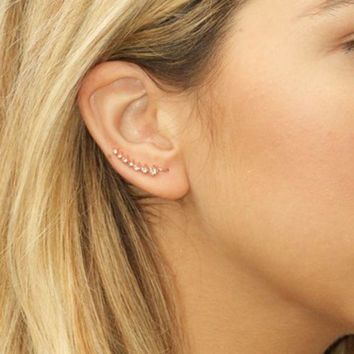 DCCKHB3 Sterling Forever | Graduated CZ Ear Crawlers