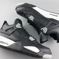 "Nike Air Jordan 4 (IV) Retro ""Oreo"" Basketball Shoes 314254-003"