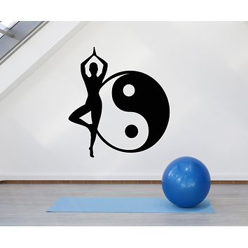 Vinyl Wall Decal  Yin Yang Symbol Yoga Zen Meditation Decor Stickers Mural (g450)
