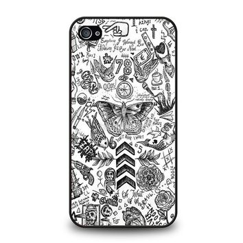 ONE DIRECTION TATTOOS iPhone 4 / 4S Case