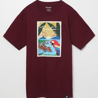 Paradise Forever T-Shirt - Mens Tee - Maroon