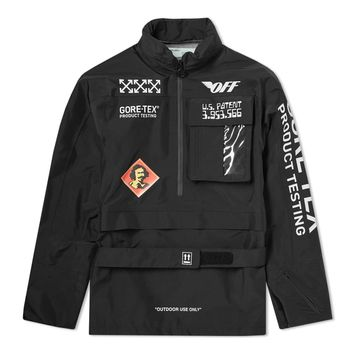 Black GORE-TEX® Anorak Jacket by OFF-WHITE