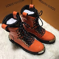 LV Louis Vuitton Men's Leather High Top Boots Shoes