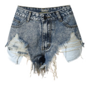 Frayed High Waisted Cut Off Shorts