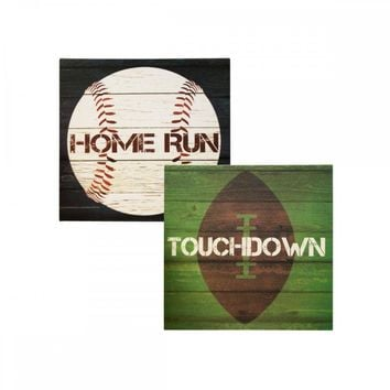 Sports Theme Canvas Wrapped Wall Art