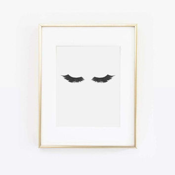 Eyelash Print, Lashes Print, Mascara Art, Mascara Print, Eyelashes Print, Makeup Art, Makeup Print, Beauty Print, Beauty Art, Printable Art