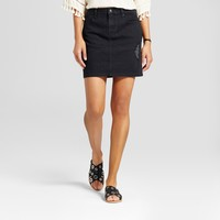 Women's Denim Skirt with Destruction Detail - Mossimo Supply Co.™ Black 4