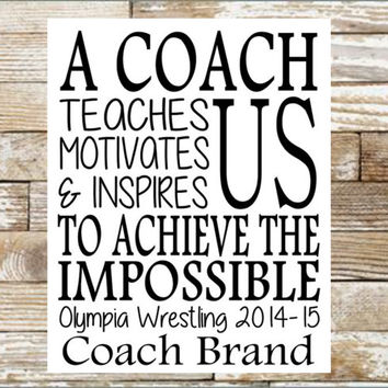 Download Personalized gift for Coach - A coach teaches us motivates us & inspires us - Coach Gift