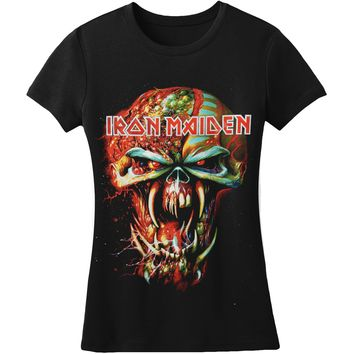 Iron Maiden  Final Frontier Eddie Big Head Junior Top Black