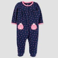 Baby Girls' Ladybug Sleep N' Play - Just One You™ Made by Carter's® Navy
