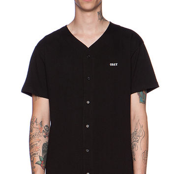 Obey Hartford Baseball Jersey in Black