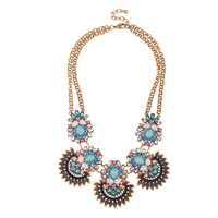 Floral Sunburst Necklace