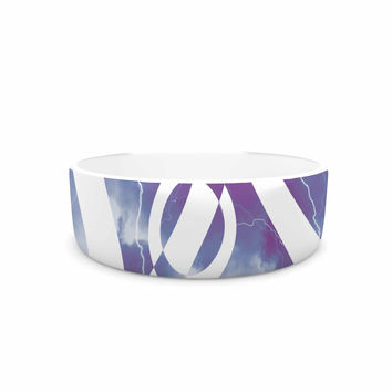 "Matt Eklund ""Mana Storm"" Purple White Pet Bowl"