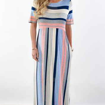 McCall Striped Maxi Dress | S-XL