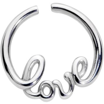 "16 Gauge 5/16"" Love Your Piercing Seamless Circular Ring"