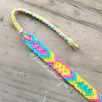 Rainbow Zig Zag Diamond Friendship Bracelet